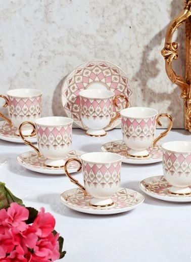 Porselen 6'Lı Lüx Kahve Fincan Takımı-Kitchen World